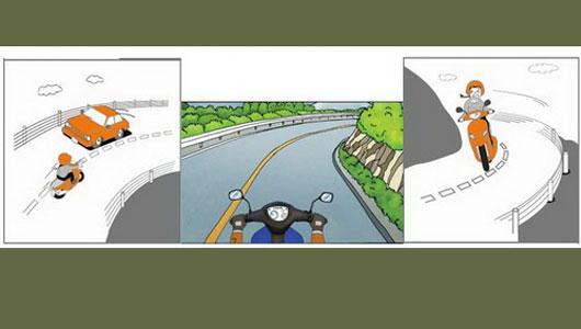Đi xe máy, vào cua thế nào cho an toàn?