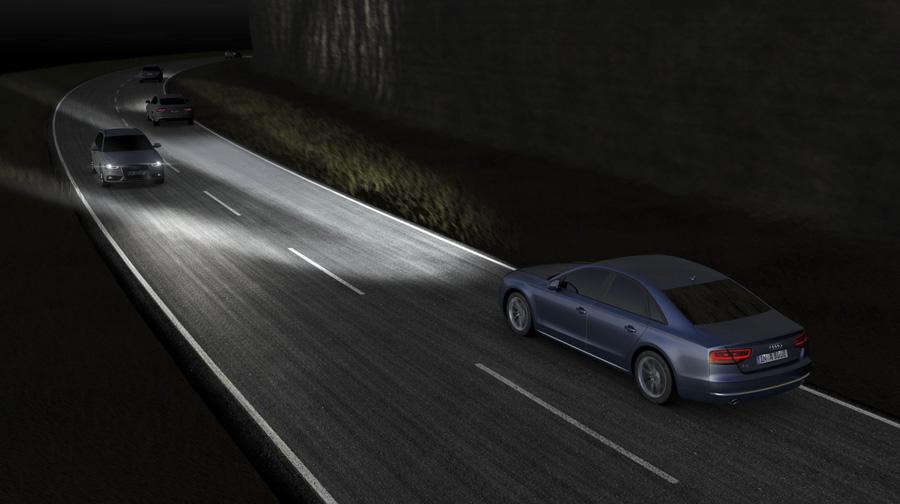 audi matrix led 2 Công nghệ đèn pha LED ma trận trên Audi A8L mới