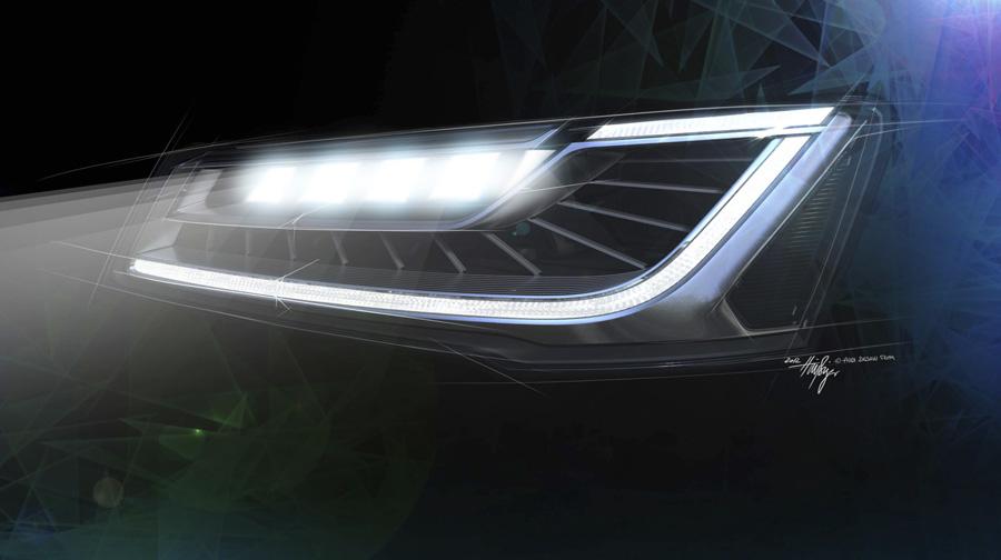 audi matrix led 3 Công nghệ đèn pha LED ma trận trên Audi A8L mới