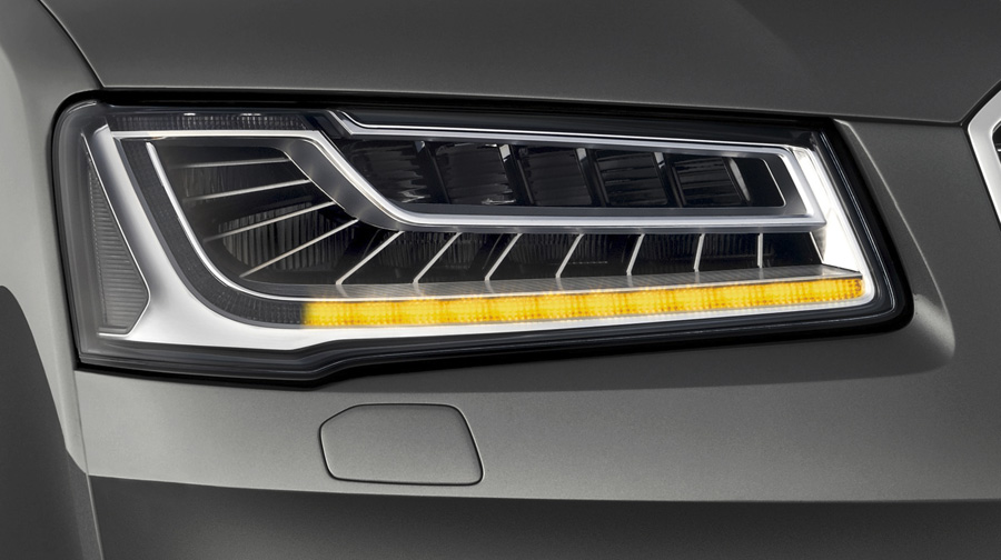 audi matrix led 4 Công nghệ đèn pha LED ma trận trên Audi A8L mới