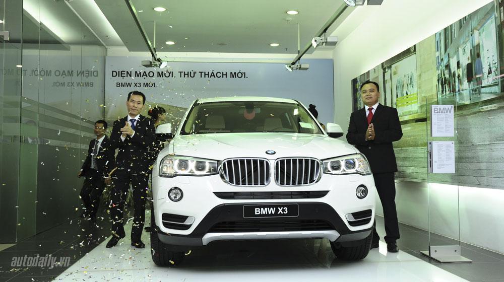 BMW X3 2015 chính thức ra mắt tại Việt Nam