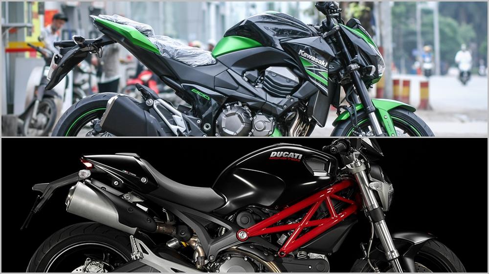 Kawasaki Z800 vs. Ducati Monster 795: Cuộc chiến bắt đầu