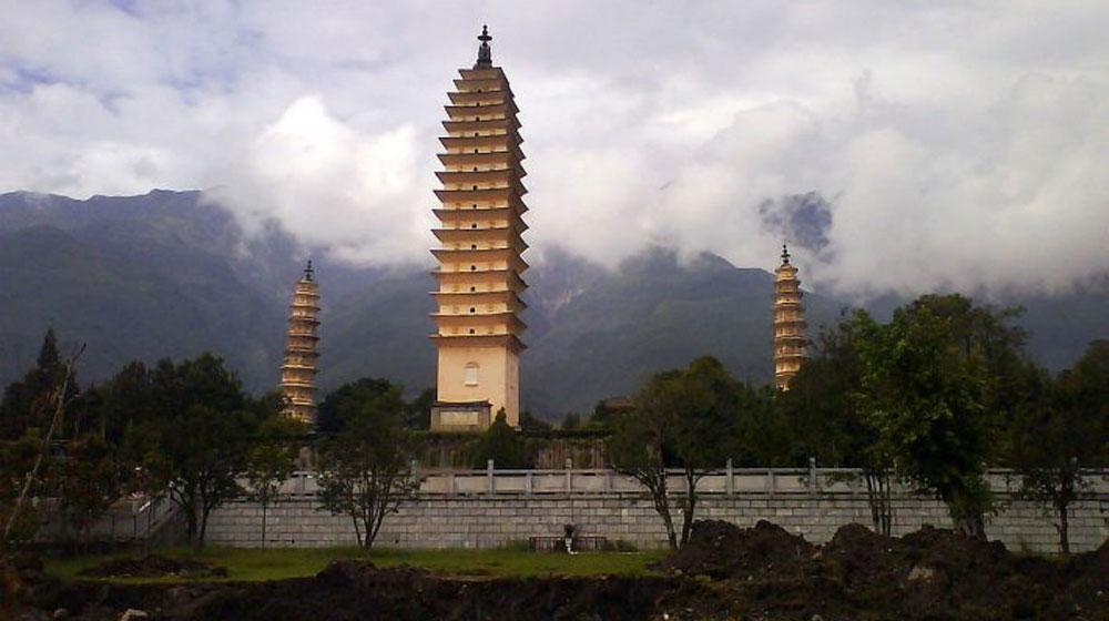 Kết quả hình ảnh cho Thành cổ Đại Lý tam tháp