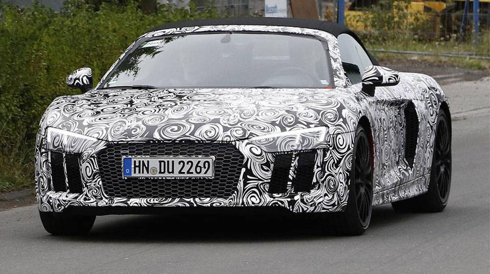Siêu xe Audi R8 Spyder 2016 lộ diện trên đường thử