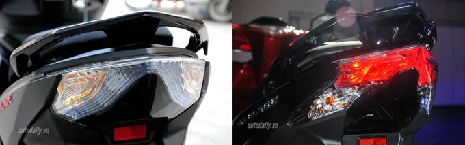 Hình ảnh so sánh trực quan Honda Air Blade 2016 với 2015 - www.TAICHINH2A.COM