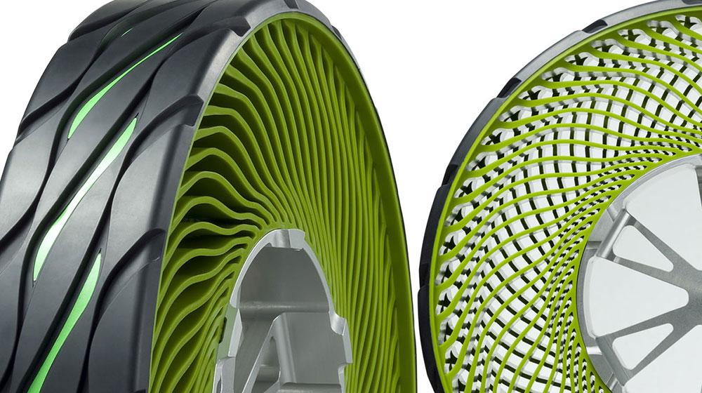 Công nghệ sản xuất lốp không hoi cho xe ô tô Bridgestone Tire  1
